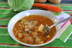 Russian Cabbage Soup Shchi, surprisingly delightful and crammed full of veggies.