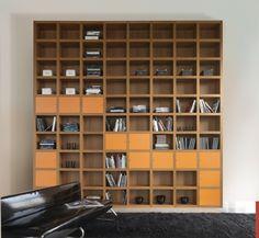 作り付けの本棚、戸棚 – Mazzaliの巨大棚 | 住宅デザイン