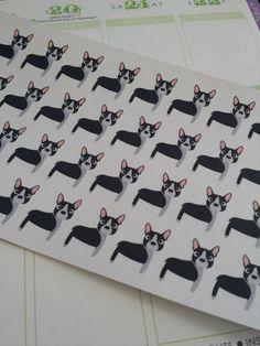 Boston Terrier Stickers for your Erin Condren by PlanningMadeEasy