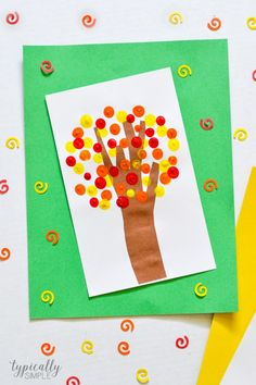 Fall Fingerprint Trees Craft - Typically Simple