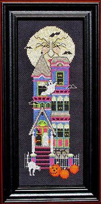 Beware Of Halloween by Bobbie G Designs is another classy halloween cross stitch pattern featuring a wicked moon, bats, haunted house complete with ghosts, scared cats and jack o' lanterns.  It's a great way to touch up your home for halloween!