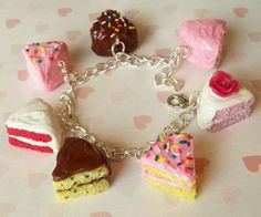 Hey, I found this really awesome Etsy listing at http://www.etsy.com/listing/72708720/assorted-cake-slice-charm-bracelet