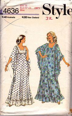 Style 4636 Womens Plus Size Caftan Pattern