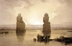 Statues of Memnon at Thebes during the Inundation