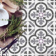 Painting Tile Floors, Painted Floors, Stencil Painting, Painted Tiles, Stenciling, Stencil Wood, Damask Stencil, Faux Painting, Stencil Diy