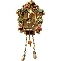 Vintage animated Coro Cuckoo fur clip, brooch or pin with original Pegasus mark. Offered at an introductory Sale Price for a short time.