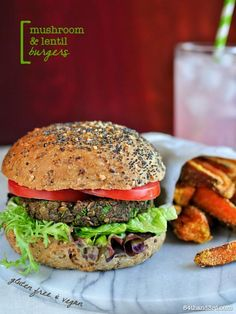 Hamburger Recipes : Mushroom & Lentil Burgers – Vegan, Gluten Free