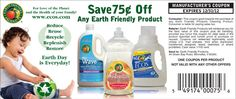 Save .75 off of our entire line of award-winning eco-friendly cleaning products! Simply print and use!!