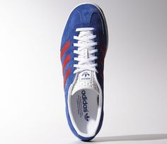 sports shoes d698e 16fff Adidas Gazelle Indoor trainers reissued in collegiate blue and red