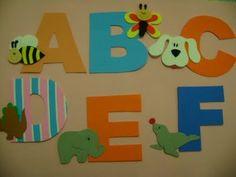 alfabeto decorado bichos - Atividades para Educação Infantil