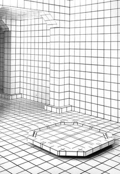Jean-Pierre Raynaud, La Maison Vaporwave Art, Simple Minds, White Aesthetic, Yohji Yamamoto, Restaurant Bar, Textures Patterns, Interior Architecture, Monochrome, Theater