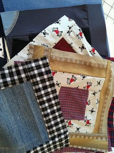 Custom Memory Quilt made from recycled clothing and textiles   Flickr - Photo Sharing!