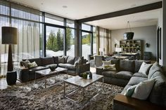 A spectacular modern home, the Lower Foxtail Residence seamlessly infuses classic western elements into a clean contemporary design. Expansive windows and bold lines compliment textures inspired by a Western palette; stonework, warm wood paneling and plenty of natural light combine to create a uniquely elegant mountain ambiance. Tucked in among a multitude of traditional log …