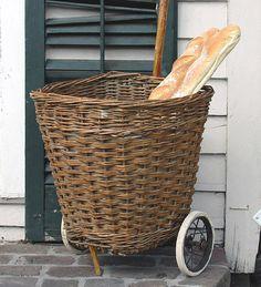 :: vintage french market basket