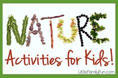 Nature Crafts & Activities for kids / preschoolers / toddlers!