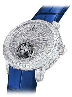 Jacob & Co.'s Caviar Tourbillon Collection Timepiece invisibly set with Baguette Diamonds