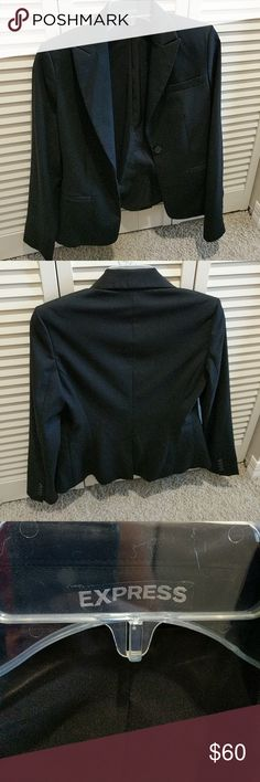 Black suit jacket EXPRESS Practically new suit jacket in great condition only worn a couple times. Great for looking professional! Express Jackets & Coats Blazers
