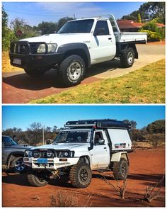 Transformation Tuesday and what better way to start it off with - rig! ☞ Send in your 📷 pics or 📹 vids to Superior Engineering! Use our hashtags & or tag us to be featured. Nissan 4x4, Nissan Navara, Jeep Xj Mods, Truck Mods, My Dream Car, Dream Cars, Nissan Patrol Y61, Ute Canopy, Toyota Cruiser