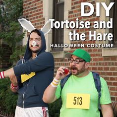 DIY Tortoise and the Hare Couples Costume