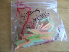 straws and strings activity bag