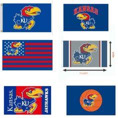 *NEW RARE* NWT NCAA KANSAS JAYHAWKS Flag 3x5' Ft *HOT* GET YOURS  | eBay