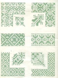 Patrones para bordar en punto marroquí
