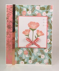 handmade card, greeting card, floral note card, blank card, CTMH, Close to My Heart, CTMH Card, All occassion card