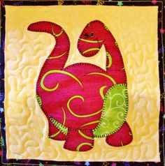 Free+Applique+Quilt+Block+Patterns | Online quilt classes & quilting patterns: Baby quilt of applique ...