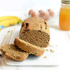 This gluten-free peanut flour banana bread is high-protein and and full of peanut butter flavor! It's made with whole ingredients and no refined sugar! The day Trader Joe's decided to discon. Flours Banana Bread, Best Banana Bread, Banana Bread Recipes, Peanut Flour, Peanut Butter Banana, Creamy Peanut Butter, Healthy Treats, Healthy Baking, Healthy Desserts