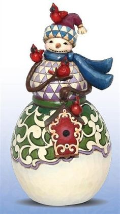 Jim Shore Winter's Tweet Surprise Snowma... We sell this at work....300.00  It would look so gooood in my apt.....sigh..
