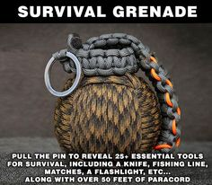 Paracord Survival Grenade That's Filled With Survival Tools | $69.99