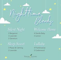 Help encourage sleep for your little ones with these diffuser blends! Gentle Baby Essential Oil, Essential Oils For Babies, Essential Oils Guide, Young Living Essential Oils, Gentle Baby Young Living, Young Living Oils, Geranium Diffuser Blend, Young Living Diffuser, Essential Oil Diffuser Blends