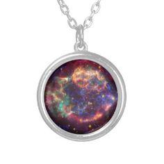 Cassiopeaia supernova Personalized Necklace