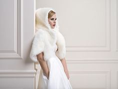 Faux fur Bridal Jacket www.liefbridal.co.uk