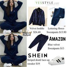 Blackpink Fashion, Kpop Fashion Outfits, Korean Outfits, Fashion Details, Fashion Dresses, Pajama Outfits, Pink Outfits, Dressy Outfits, Cotton Sweatpants