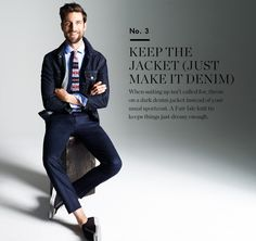 J. Crew Party Playbook. No. 3 Keep the jacket (just make it denim.)