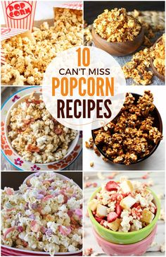Don't settle for plain old popcorn. These deliciously inventive popcorn recipes will deliver a kick of flavor to your taste buds!