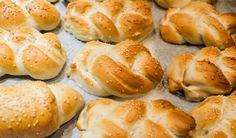 Dumplings, Pretzel Bites, Hot Dog Buns, Bread Recipes, Pizza, Food, Essen, Bakery Recipes, Eten