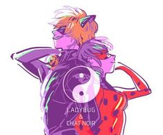 Miraculous ladybug | still don't know what that sign means<<<< it's yin and yang (I think it's chinese) which is basically the black part with white dot is a half and white part with black dot is a part. The people in a couple each take a part and it symbolizes their love and always being with eachother because the pieces fit