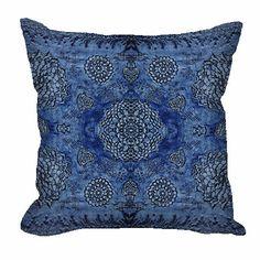 Royal Blue Bohemian Floral Lace Throw Pillow – Fischer Fine Arts