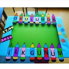 İlk gün çerçevesi için @keskinnbusra teşekkürler #etkinlikkurdu #etkinlik… Preschool Games, Preschool Crafts, Activities For Kids, First Day Of School, Pre School, Back To School, Fun Crafts For Kids, Diy And Crafts, Paper Crafts