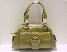 SHOULDER BAG IN LEATHER  FOR WOMEN LADIES PURSE TOTES IN GREEN BLACK  #NATALIE #Satchel