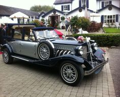Navy Silver Wedding, Wedding Car Hire, Antique Cars, Vintage Cars