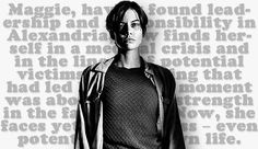 The Walking Dead character art s7:Maggie Greene Rhee