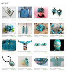 Great finds for those who are fans of #turquoise ! A beautiful treasury by Monica Zel of Grandmas Dowry. https://www.etsy.com/treasury/NDM0OTkzMjN8MjcyNzQxMjEyMg/april-finds #etsy #treasury #giftideas