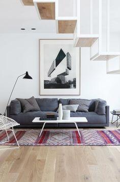 Design au sommet dans ce salon.