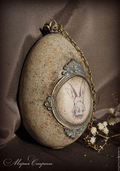 """Купить Яйцо интерьерное """"Следуй за белым кроликом / Follow the White Rabbit """""""