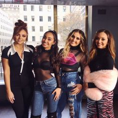 accesshollywood: Hey, look at me now Loved hanging out with the babes from this morning! The sweetest, most talented girls around Little Mix 2017, Little Mix Outfits, Little Mix Girls, Cute Outfits, Jesy Nelson, Perrie Edwards, Litte Mix, Luanna Perez, Mixed Girls