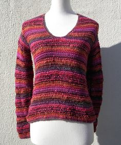 Another great find on #zulily! Pink & Rust Stripe V-Neck Sweater - Women by Relais Knitwear #zulilyfinds
