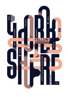 Typographic poster design by Studio My Name is Wendy Graphisches Design, Typo Design, Poster Design, Modern Graphic Design, Graphic Design Typography, Graphic Design Inspiration, Maze Design, Studio Design, Print Design